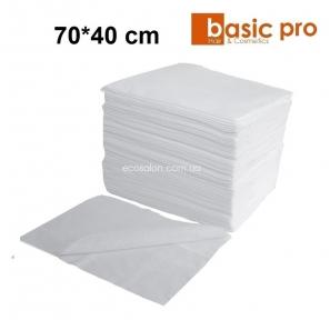 Полотенца одноразовые BASIC-PRO 70*40 см, спанлейс (100 шт.), гладкие