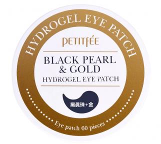 Патчи гидрогелевые PETITFEE для век с экстрактом чёрного жемчуга и био-частицами золота | Petitfee Black Pearl & Gold Hydrogel Eye Patch