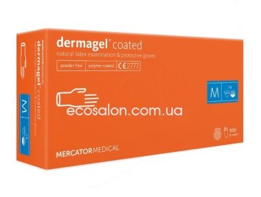 DG | Перчатки М латексные неопудренные, текстурированные DERMAGEL COATED (100 шт.)