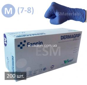 D | Перчатки M нитриловые голубые Dermagrip Ultra LT (200 шт.)