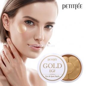 Патчи гидрогелевые PETITFEE для век с золотыми частицами и факторами роста EGF | Gold & EGF Eye & Spot Patch