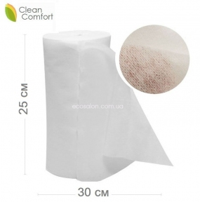 Салфетки нетканые в рулоне 25*30 см, Клин Комфорт, спанлейс, сетка (100 шт.)