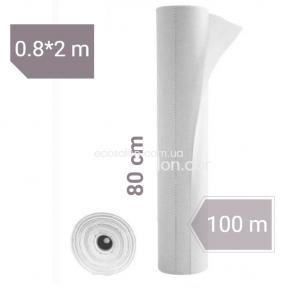 Простыни одноразовые белые 0,8*100 м, Etto (25 г/м2), СМС | отрывные (50 шт.)