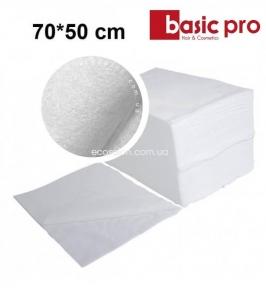 Полотенца одноразовые BASIC-PRO 70*50 см, спанлейс (100 шт.), гладкие