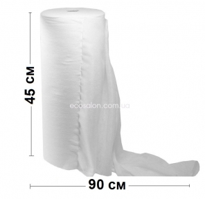 Полотенца одноразовые в рулоне 45*90 см, Клин Комфорт, спанлейс сетка (100 шт./рул.)