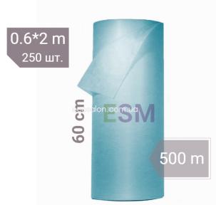 Простыни одноразовые голубые 0,6*500 м Comfort, CММС | отрывные - шаг 2 м (250 шт.)