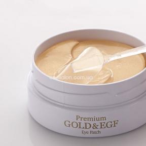 Патчи гидрогелевые PETITFEE для век с золотыми частицами и факторами роста EGF | Premium Gold & EGF Eye Patch
