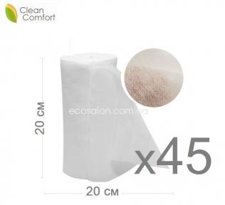optom | Салфетки нетканые в рулоне 20*20 см, Клин Комфорт, спанлейс, сетка (45 рул./ящ) 4500 шт. салфеток