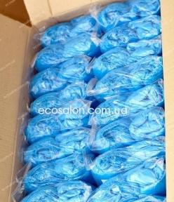 Бахилы полиэтиленовые,  вес одной бахилы 2,5 г , размер 16*40 см,  60 уп./ящ.