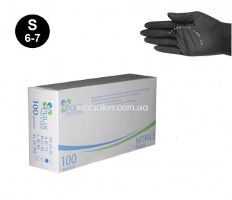 Перчатки нитриловые черные Polix PRO&MED, р. S (100 шт.)