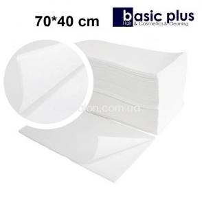Полотенца одноразовые BASIC-PLUS 70*40 см, гладкие (100 шт.)