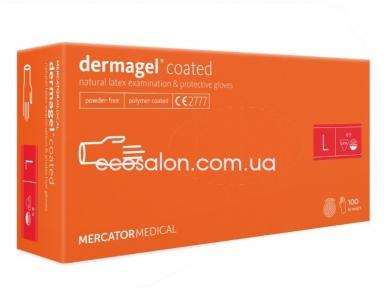 DG | Перчатки L латексные неопудренные, текстурированные DERMAGEL COATED (100 шт.)