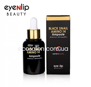 Сыворотка Black Snail для лица против морщин (30 мл) | Black Snail Amino 14, Eyenlip